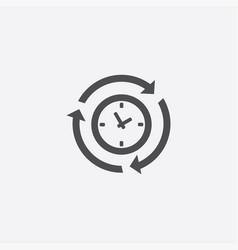 time arrow icon vector image