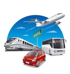 travel transport vector image