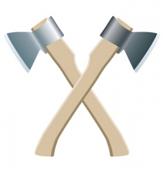 two axes vector image