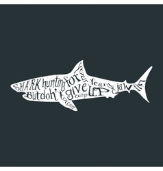 Typography lettering shark vector image