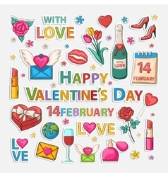Valentines clip art vector image