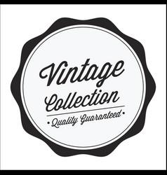 Vintage circle curl image vector