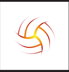 Volleyball outline background vector