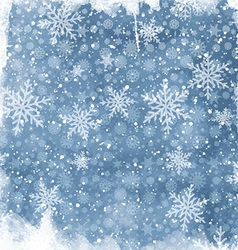 watercolor snowflake background 2410 vector image