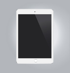 White tablet mock-up isolated on gary background vector