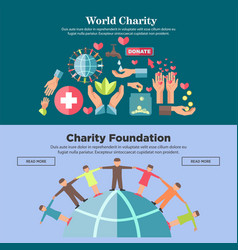 world charity foundation promotional internet vector image