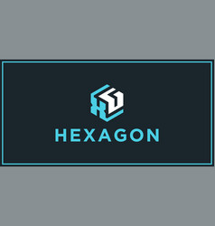 xg hexagon logo design inspiration vector image