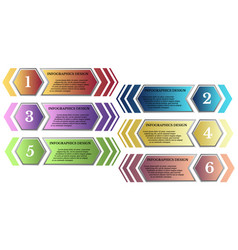 a set of colorful numbered arrow tags vector image