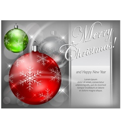 christmas background baubles color 4 10 SS v vector image vector image