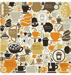 Coffee a structure vector image vector image