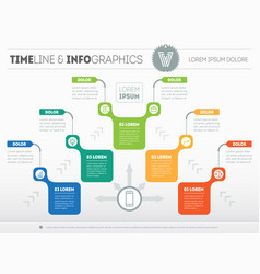 Infographic of purchase funnel presentation of vector