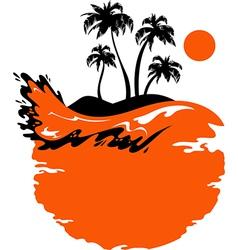 Landscape of Tropical Banner vector image vector image