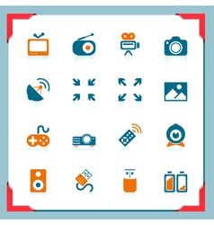 media icons - in a frame series vector image