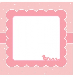 sweet baby card vector image vector image