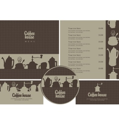 coffee house set vector image vector image