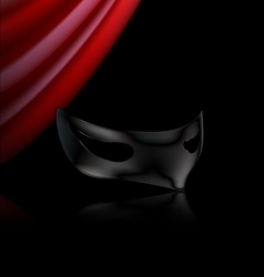 dark mask and red drape vector image vector image
