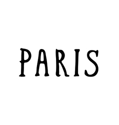 Hand drawn Paris phrases vector image vector image