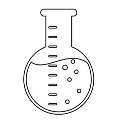 laboratory flask glass liquid thin line vector image