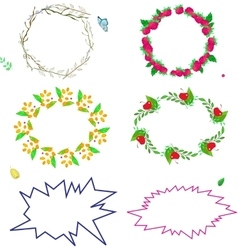 set of colored frames with summer vector image