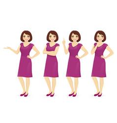 woman in dress set vector image vector image