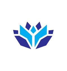 abstract cristal lotus logo vector image