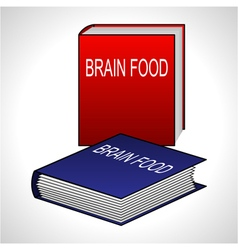 Book icon - Brain Food vector image vector image