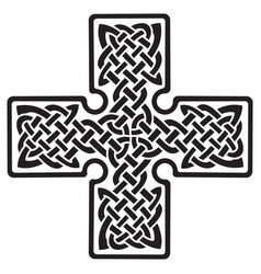 celtic pagan cross vector image