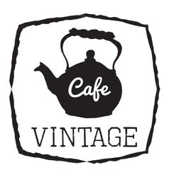 VINTAGE CAFE vector image vector image