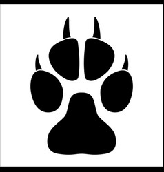 animal paw print on a white background vector image vector image