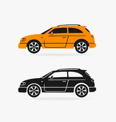hatchback car symbol vector image vector image