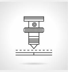laser machine element flat line icon vector image