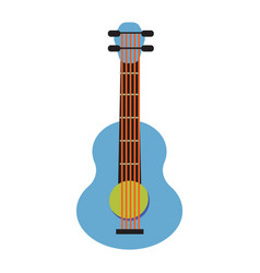 pop art guitar cartoon vector image