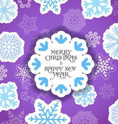 Violet Christmas greeting card vector image