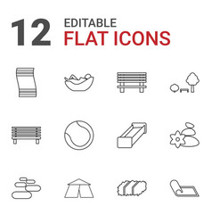 12 relaxation icons vector