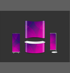 Advertising exhibition booth design with abstract vector
