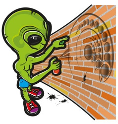 Alien and crop circle vector
