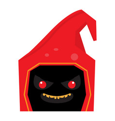 Angry halloween cartoon reaper avatar vector