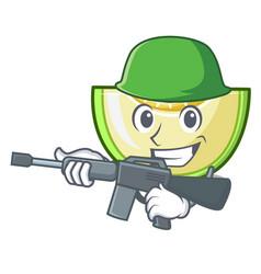 army slice of melon isolated on cartoon vector image