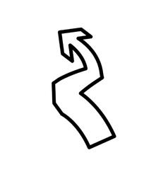 Arrow icon Direction design graphic vector image