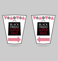 black friday super sale poster vector image