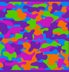 camouflage seamless pattern in a violet orange vector image