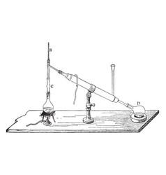 chemistry apparatus vintage vector image