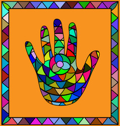 Colored image hand vector