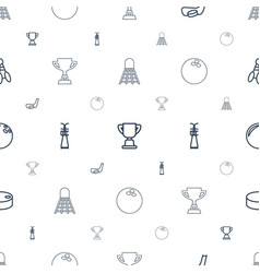 Competitive icons pattern seamless white vector