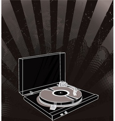Concert poster with turntable vector