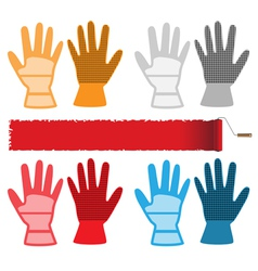 Construction gloves vector image