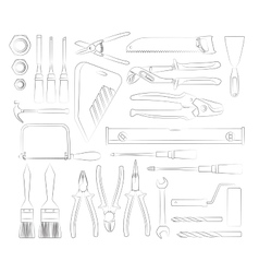 Construction tools set vector