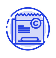 Copy copyright restriction right file blue dotted vector