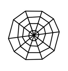 creepy spider web over white background icon vector image
