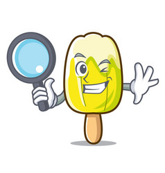 Detective lemon ice cream character cartoon vector